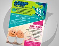 flyer design - Raquel Graña - Talleres para niños y ad