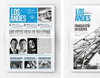 - Rediseño del diario LOS ANDES -