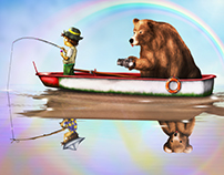 child & bear