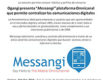 Nota de prensa y Reporte de publicaciones - Messangi