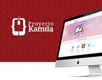 Proyecto Kamila, Página Web.