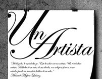 Un Artista - Puesta tipográfica