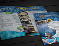 Sales Kit Design for National Pools Construction