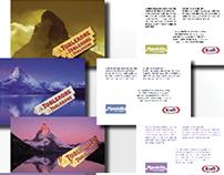 Projeto gráfico: Cartão postal Toblerone