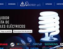 sitio web con catalogo de productos con administracion