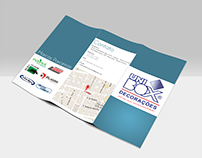 Folder confeccionado para empresa Unibox.