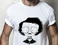 T-shirt illustration: Edgar Allan Poe