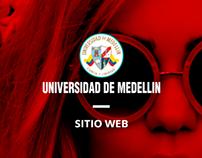 Sitio web Universidad de Medellín