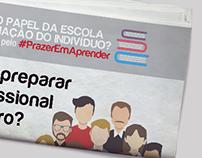 Sobrecapa de Jornal Colégio Arbos