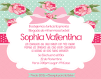 Sophia Valentina's Baby Shower Invite