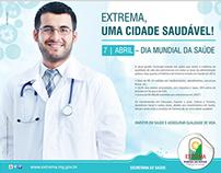 Anúncio para o Dia Mundial da Saúde