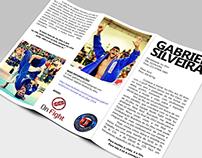 Gabriel Silveira: Folder e camiseta