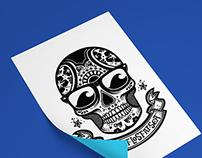 GET LOST AT SEA - Calavera Logo