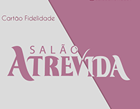 """Criação de materiais impressos para """"Salão Atrevida"""""""