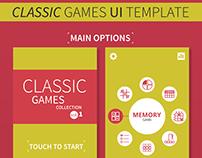 Classic Games UI Template