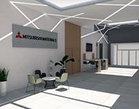 Renders Reforma oficina Mitsubishi