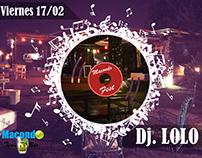 Promoción Bar Macondo Fiesta DJ
