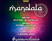 Flyer Design Mandala Night