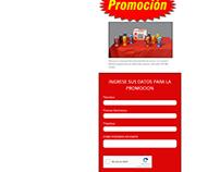 Landing Page promocion para distrubuidor AMWAY Aruba