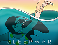 "Album Cover for ""Sleepwar"" band"