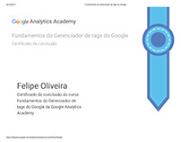 Certificado - Gerenciador de Tags do Google