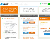 Sistema de contratación de planes con débito automático