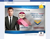 Facebook Landing Page -Mille et une Cravates