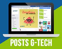 Ilustrações para posts da pagina da G-Tech