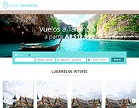 Aereo Barato | Landing de destino y resultado