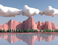 Lago Low Poly