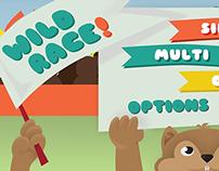 Interface Gráfica do jogo Wild Race