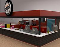 Famous Donuts kiosk