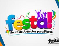 """Diseño de logotipo para empresa mexicana """"Festa"""""""