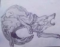 Ilustración lobo