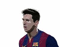 Leonel Messi Ilustración Digital