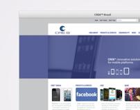 Website CRE8™ Brasil.