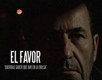 """Carteles cortometraje """"El Favor"""""""