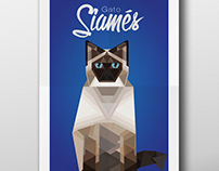 Sintesis gato siames / Siamese cat geometric design
