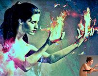 foto manipulación: elemento del fuego.