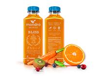 Etiqueta Mondra Juice Detox, ARG.