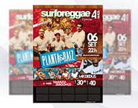 Flyer Cartaz - Reggae Festival - Planta e Raiz