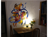 Jazz band wall painting