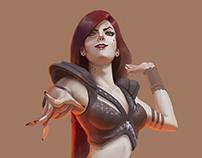 Criação de Personagem | Blood Lady | Concept