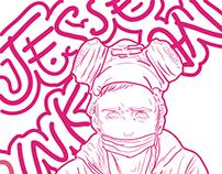 Ilustração do personagem Jesse Pinkman - AI