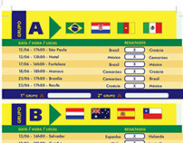 Tabela Copa do Mundo 2014 (Indesign CS6)