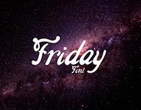 Friday - Afiche Tipográfico