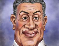 Caricatura Sylvester Stallone