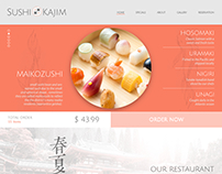Sushi Website Concept