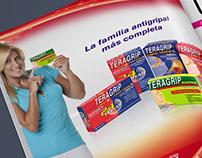"""Aviso revista TERAGRIP """"Familia más completa"""""""