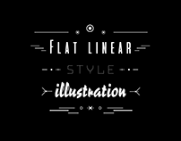 Illustration Flat Linear